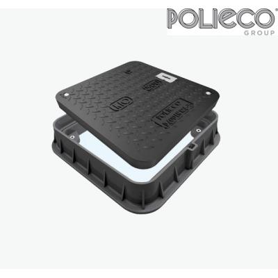 Polieco KIO Quadrato D400 Chiusino di ispezione classe D400 prodotto in Kinext™ .Al miglior prezzo del web.