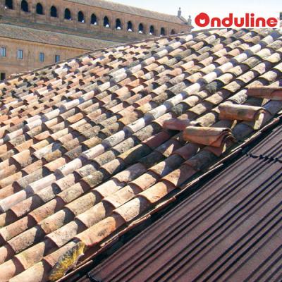 Ondulina sc 380 polivalente per coppi e tegole, lavori eseguiti in italia e referenze per edifici storici.
