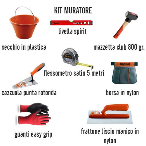 Kit muratore 8 articoli