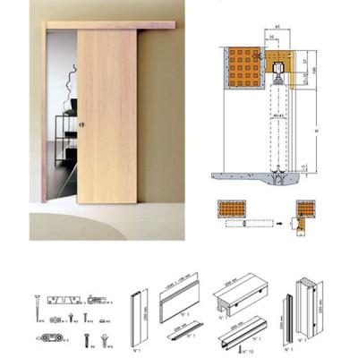 kit travetto mantovana per porta scorrevole esterno muro