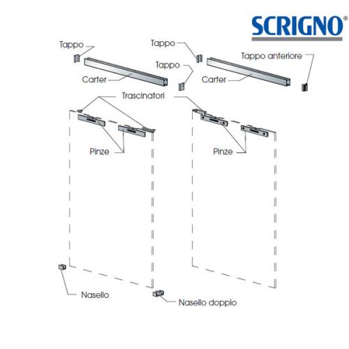 Kit ferramenta per ante in vetro SCRIGNO
