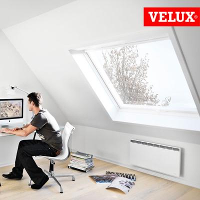 VELUX GGU 008230 finestra certificata casa passiva, massimo isolamento termico e acustico per ambienti di design e progettisti.