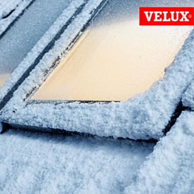 VELUX GGU 008230 finestra certificata casa passiva, massimo isolamento termico e acustico, neve.
