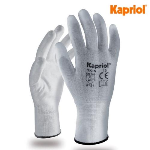 Kapriol Guanti Skin bianchi (6 paia)