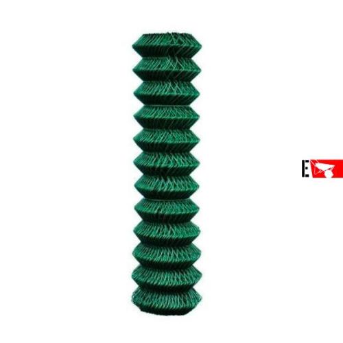 Rete romboidale plasticata verde