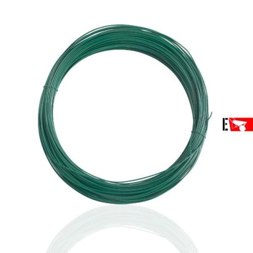 Filo plasticato verde per legatura