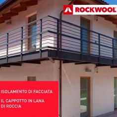RED Art di Rockwool, sistema completo di isolamento a cappotto in lana di roccia per l'edilizia residenziale e industriale.