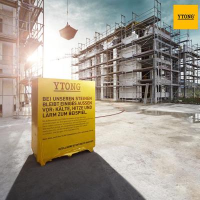 Ytong Climagold blocco da costruzione per tamponamenti isolati monostrato ad altissima efficienza energetica.