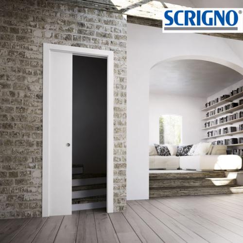 SCRIGNO Gold Base Singolo Intonaco, controtelaio per porte scorrevoli, per pareti intonacate e porte ad anta singola.