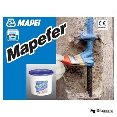 MAPEI Mapefer è la malta cementizia anticorrosiva bicomponente per la protezione dei ferri d'armatura.