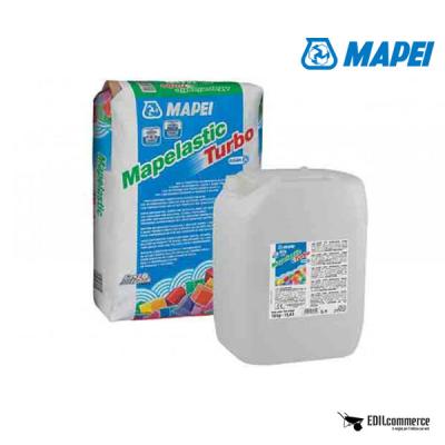MAPEI Mapelastic Turbo è la malta cementizia bicomponente elastica a rapido asciugamento.
