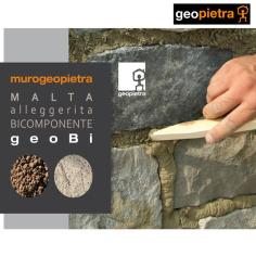 GEOPIETRA GEOBI. La malta bicomconente per la finitura di pietra ricostruita e mattoni da rivestimento al miglior prezzo.