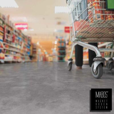 prezzo pavimentazione magnetica mabos per negozi e spazi commerciali sconto per metratura.