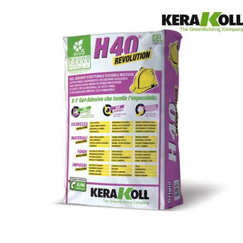 Kerakoll H40 REVOLUTION l'adesivo ad incollaggio accelerato. In vendita online nel nostro ecommerce al miglior prezzo.