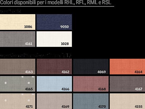 colori tende VELUX FHL FML FSL listino 2021